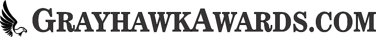 Grayhawk Awards Logo News Font