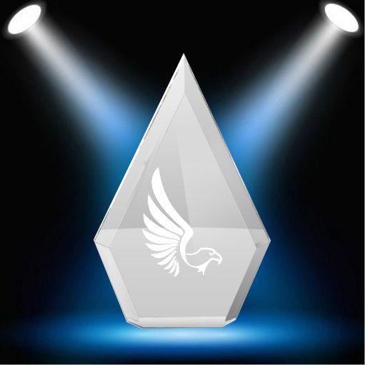 Clear Arrowhead trophy