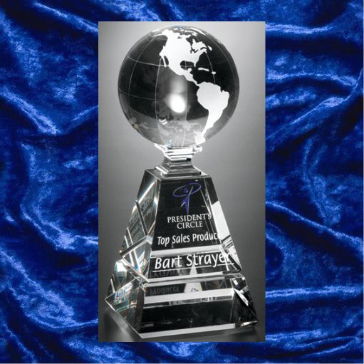 President's Circle Glass Globe