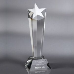 : clear award with star