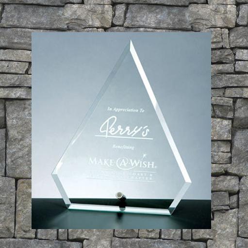 Triangle-shaped award with square base