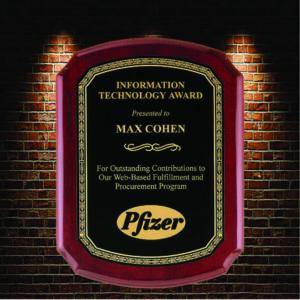 information technology award plaque