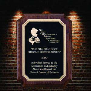 airflyte patriot plaque against brick background